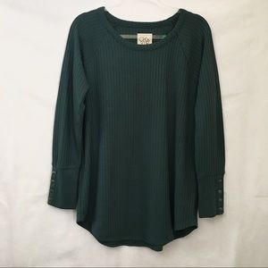 Chaser Winter Pine Waffle Thermal Long Sleeve Tee